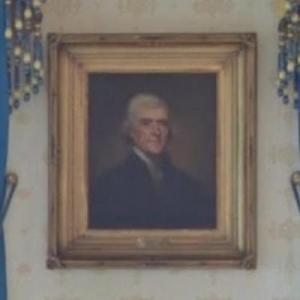 Portrait of Thomas Jefferson in The White House (StreetView)
