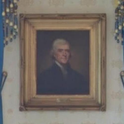Portrait of Thomas Jefferson in The White House (StreetView)