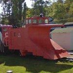 Canadian National Railways snowplow (StreetView)