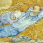 The siesta (after Millet) by Vincent van Gogh (1890) (StreetView)