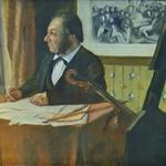 'The Cellist Pilet' by Edgar Degas (StreetView)