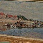 """Barges on the Loing at Saint-Mammès"" by Alfred Sisley"