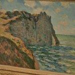 """The Cliff of Aval, Etrétat"" by Claude Monet (StreetView)"