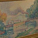 """The Tugboat, Canal in Samois"" by Paul Signac (StreetView)"