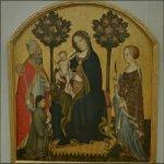 'Mary Enthroned with the Child, Saints and a Donor' by Gentile da Fabriano (StreetView)