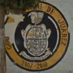 Ciudad Juárez crest mural (StreetView)