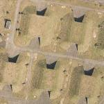 Cruise missile bunkers at Greenham Common (Google Maps)