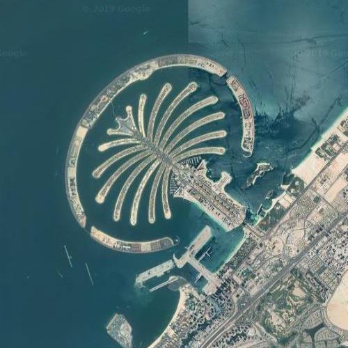 The Palm Jumeirah (Google Maps)