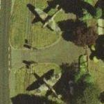 Hurricane and Spitfire at Biggin Hill (Google Maps)
