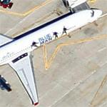 "Allegiant Air ""Blue Man Group"" (Google Maps)"