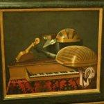 """Still Life with Musical Instruments and Book"" by Bartholomeo Bettera"