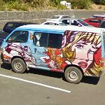 Roy Lichtenstein mural on a van (StreetView)