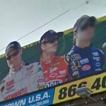 Dale Earnhardt, Jr., Jeff Gordon and Jimmie Johnson (StreetView)