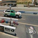 Google Car on the Drag Strip (StreetView)