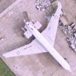 Vickers VC-10 waiting to be scrapped (Google Maps)
