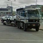 Dakari rally cars in Tallinn (StreetView)