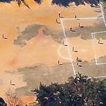 Football game in progress (Google Maps)