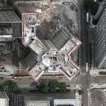 Building being demolished (Google Maps)