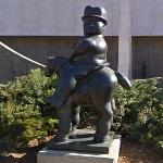 'Man on Horse' by Fernando Botero (StreetView)