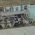 Locomotive mural (StreetView)