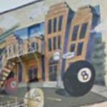 """Eightball on King"" mural"