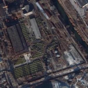 Tank Graveyard in Kharkiv (Google Maps)