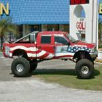 Patriotic Monster Truck (StreetView)