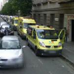 Row of ambulances (StreetView)