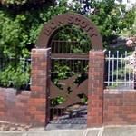Memorial entrance to Bon Scott's grave