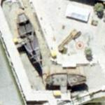 Columbus' ships the Pinta and the Santa Maria (Google Maps)