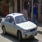 Waving at Google Streetview Camera