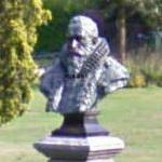 Bust of Johan van Oldenbarnevelt by August Falise at the Thorbeckeplein