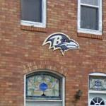 Raven's Logo on a house