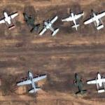 Vintage and firefighting aircraft (Google Maps)