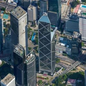 'Bank of China Tower' by I. M. Pei. (Google Maps)