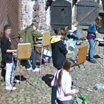 Children painting (Vyborg Castle) (StreetView)