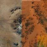 New Found Kebira Crater Between Egypt and Libya (Google Maps)