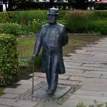 Charles Felix Lindberg's statue (StreetView)