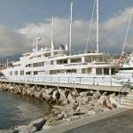 Superyacht Ecstasea in San Remo (StreetView)