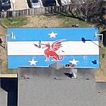 SMU Beta Theta Pi branded basketball court (Google Maps)