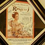 "Autographed ""The King and I"" poster"