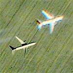Airplane - Contrails From Ghost Plane (Google Maps)