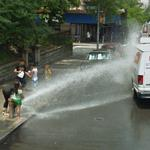 Fire hydrant spray (StreetView)