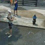 Hydrant spraying (StreetView)