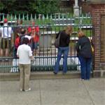 Benjamin Franklin's grave (StreetView)