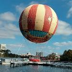 Characters In Flight balloon (StreetView)