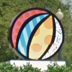 'Miami Beach Ball' by Romero Britto (StreetView)
