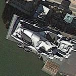 Space Shuttle Enterprise on board USS Intrepid (Google Maps)