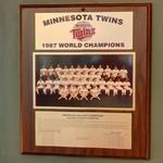 1987 World Series Champions plaque: Minnesota Twins