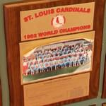 1982 World Series Champions plaque: St. Louis Cardinals